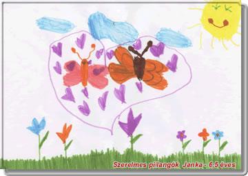 Kép: Gyermekrajz 803 képeslap.