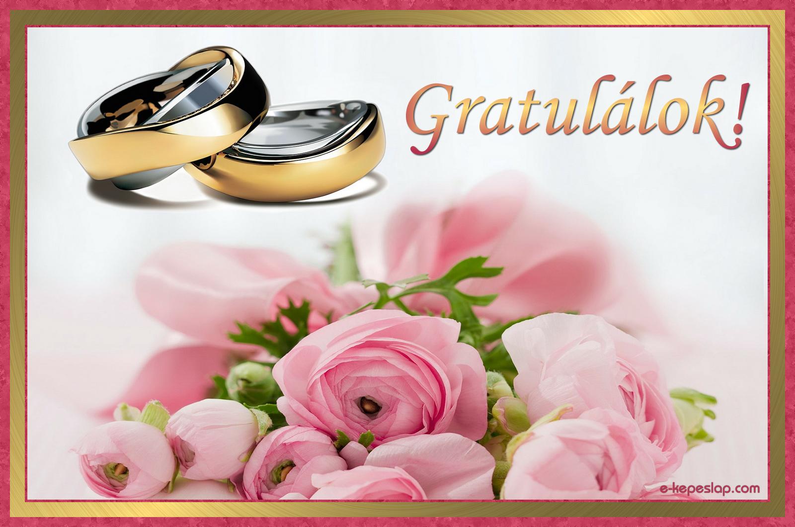 esküvői köszöntő képeslapok Esküvői gratuláció kép   Képeslapküldés   e kepeslap.com esküvői köszöntő képeslapok