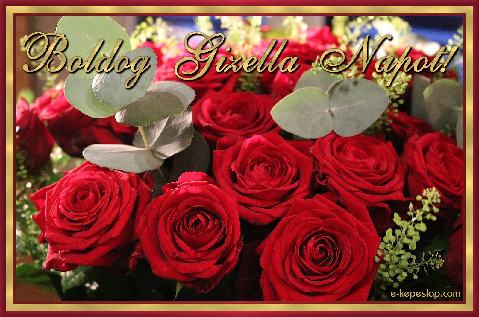gizella névnap köszöntő Gizella névnapi képeslap   Képeslapküldés   e kepeslap.com gizella névnap köszöntő