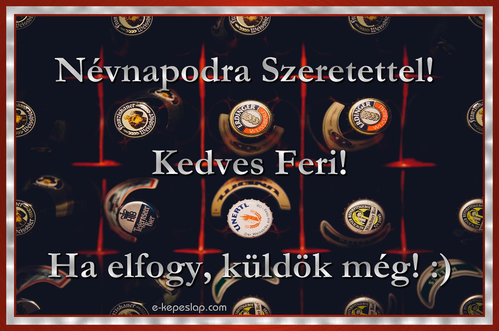 ferenc napra köszöntő Ferenc névnapi képeslap   Képeslapküldés   e kepeslap.com ferenc napra köszöntő