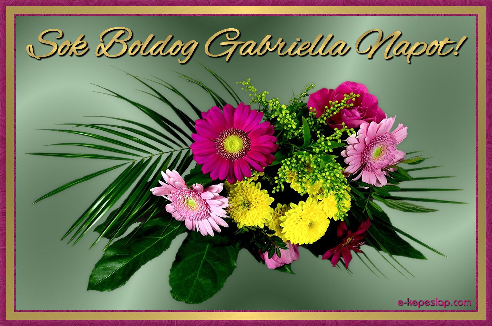 gabriella névnapi képek Gabriella névnapi képeslap   Képeslapküldés   e kepeslap.com gabriella névnapi képek