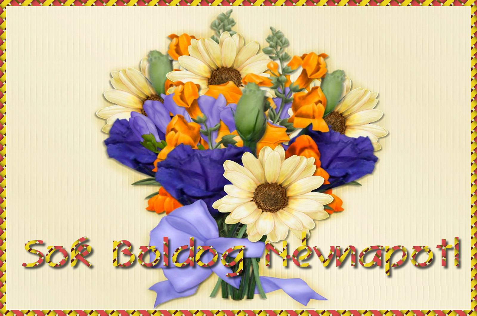 névnapi képek virágcsokrok Virágcsokor névnapra   Képeslapküldés   e kepeslap.com névnapi képek virágcsokrok