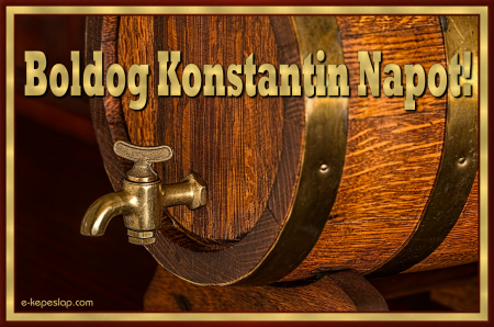 Konstantin névnapi képeslap