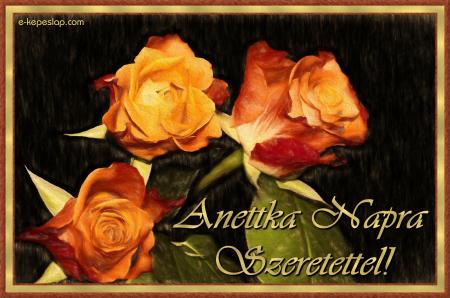 Anettka névnapi képeslap