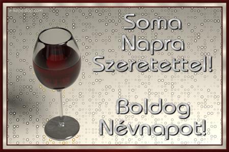 Soma névnapi képeslap