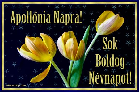 Apollónia névnapi képeslap