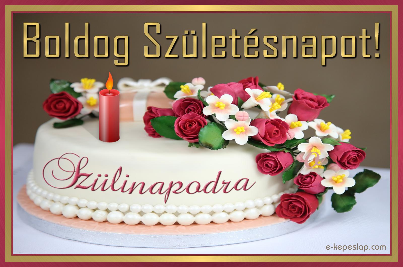 torta képek letöltése Virágdíszes torta, szülinapi képeslap   Képeslapküldés   e  torta képek letöltése