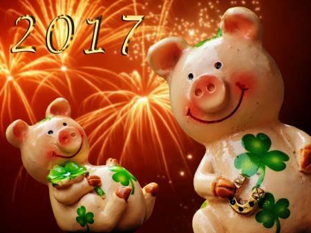 Újévi szerencsemalac 2017-re