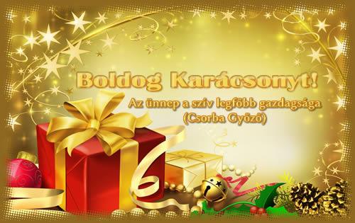 Az ünnep a szív legfőbb gazdagsága (Csorba Győző). Karácsonyi képeslap