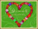 Amit a szem nem lát, a szív azt is érzi... Szerelmes képeslap.