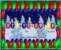 A képeslapon visszaszámláló van, mely számolja az Újévig hátralévő időt.