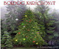Boldog karácsonyt, feliratos mozgó flash képeslap.