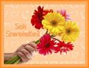 Egy csokor virág, sok szeretettel. Virágos képeslap különböző alkalmakra.